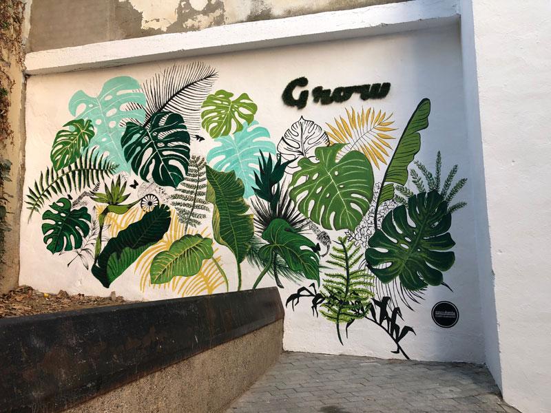 Pintura mural en Fragafitti 2019